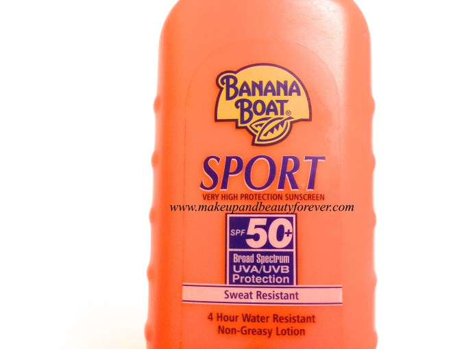Banana Boat Sport Performance Sweat Resistant Sunscreen SPF 50 with UVA and UVB Protection Review 2