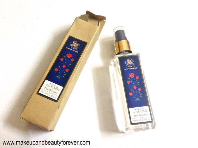 Forest Essentials Facial Tonic Mist Pure Rosewater Review Indian Beauty blog