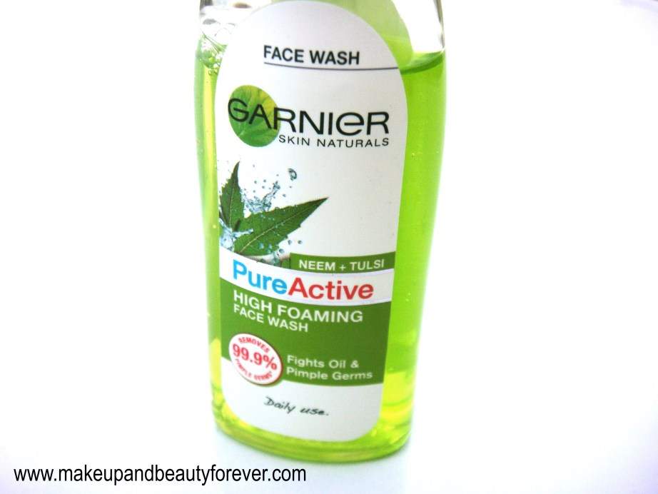 Garnier Pure Active Neem Tulsi High Foaming Face Wash Review
