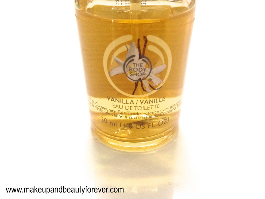The Body Shop Vanilla Eau de Toilette Review makeup and beauty blog