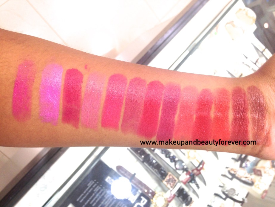 All Revlon Ultra HD Lipstick Review Shades Swatches Azalea Sweet Pea Petunia Hydrangea Rose Primrose Poinsettia Iris Geranium Gladiolus Marigold Dahlia Snapdragon India