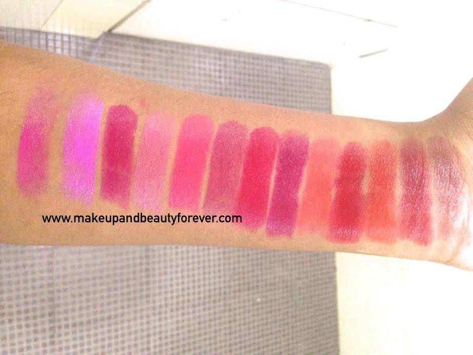 All Revlon Ultra HD Lipstick Review Shades Swatches Price India Azalea Sweet Pea Petunia Hydrangea Rose Primrose Poinsettia Iris Geranium Gladiolus Marigold Dahlia Snapdragon