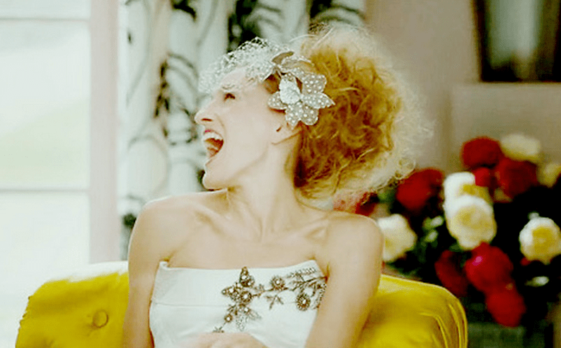 Carrie Bradshaw's Wedding Dress by Caroline Herrera vogue
