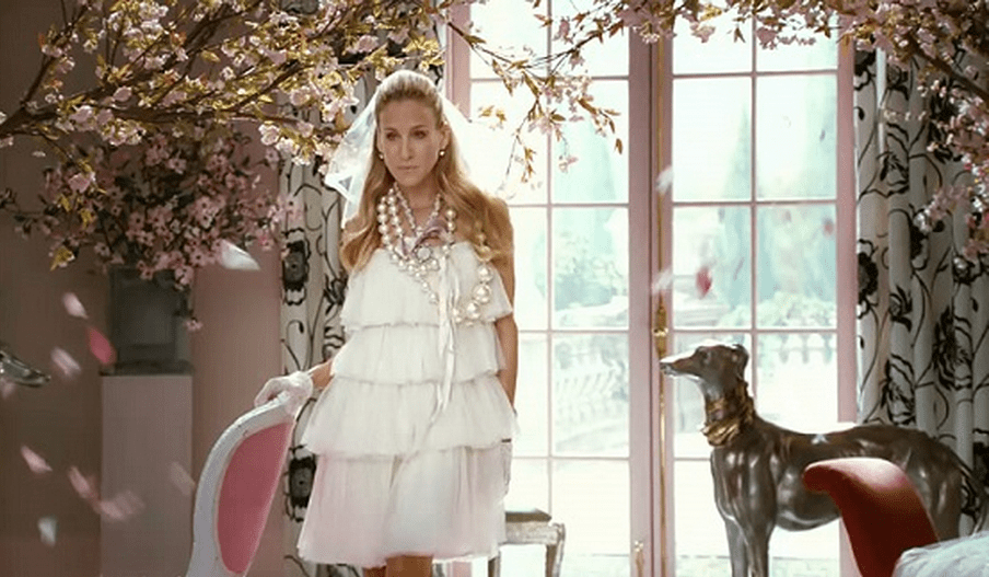 Carrie Bradshaw's Wedding Dress by Lanvin vogue