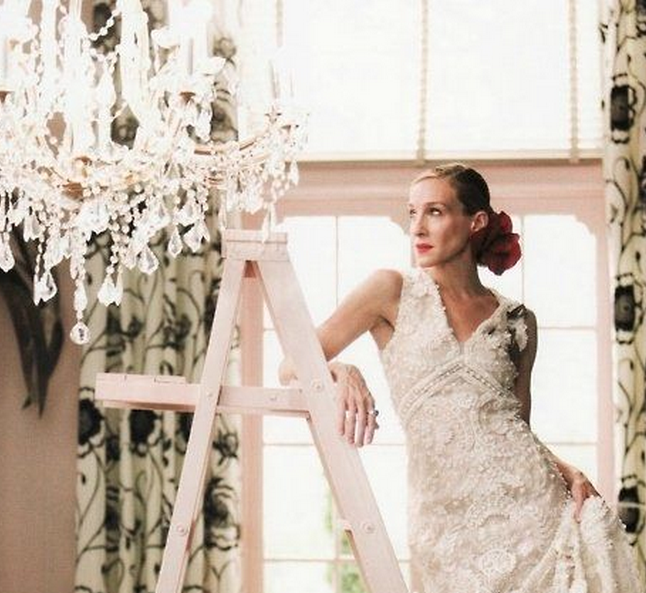 Carrie bradshaw wedding dress sex and the city