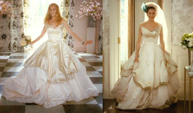 Sex and the city carrie bradshaw wedding dress from vogue for Vivienne westwood wedding dress price