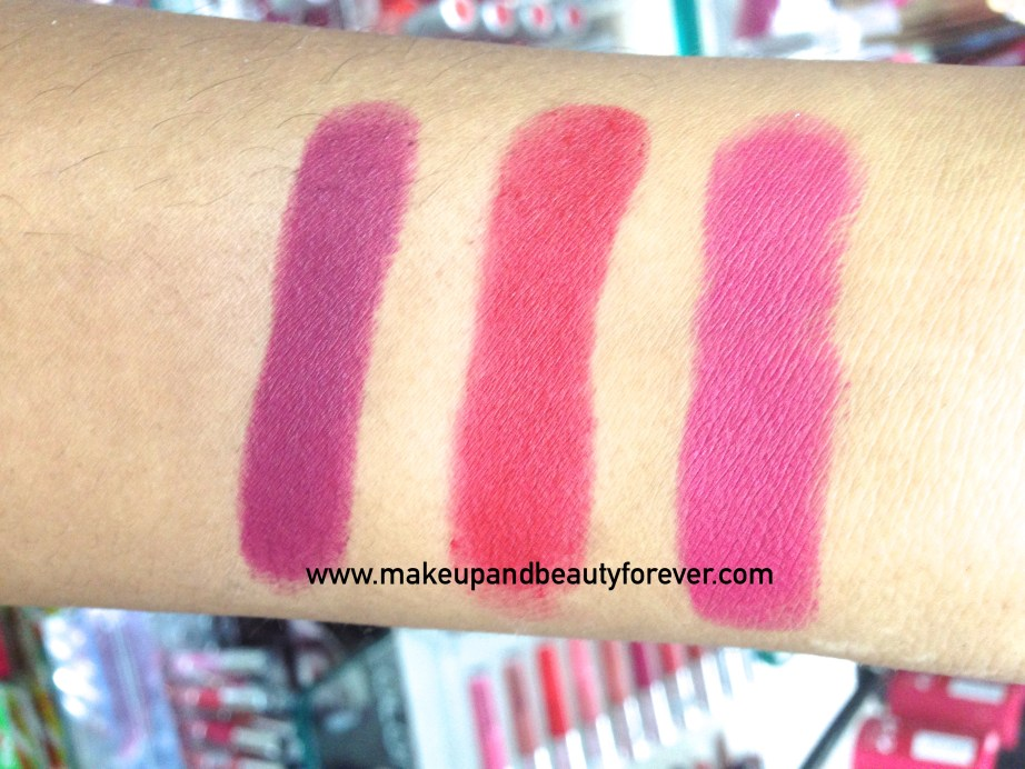 Deborah Milano 80s Icon Collection Velvet Lipsticks Review, Shades, Swatches, Price and Details