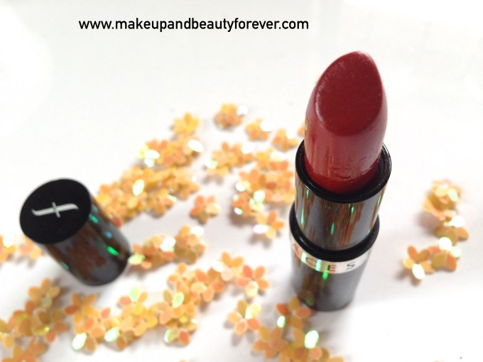 Faces Canada Go Chic Lipstick Poppy Red 411 Review Swatches Price MBF India
