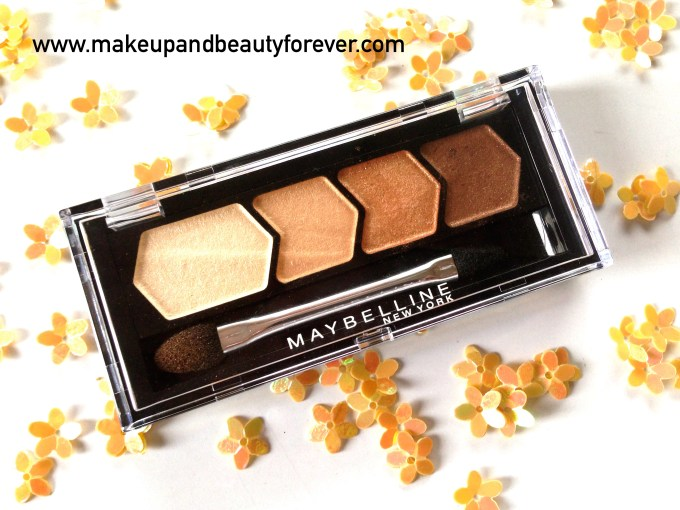 Maybelline Eyestudio Diamond Glow Eye Shadow Quad 01 Copper Brown Review Swatches Price Indian Beauty Blog