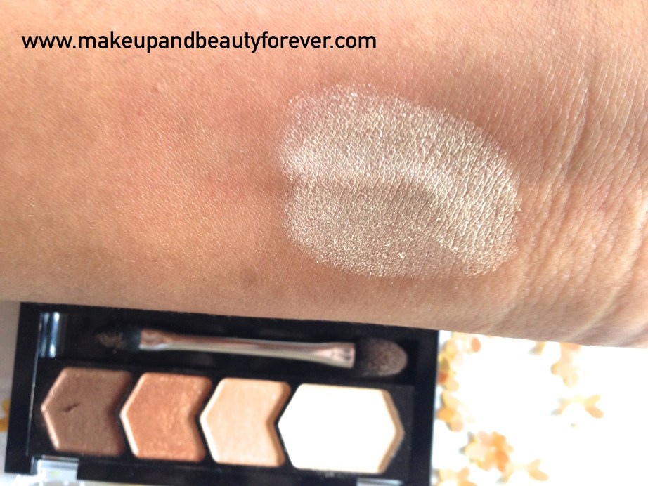 Maybelline Eyestudio Diamond Glow Eye Shadow Quad 01 Copper Brown Review Swatches Price MBF India