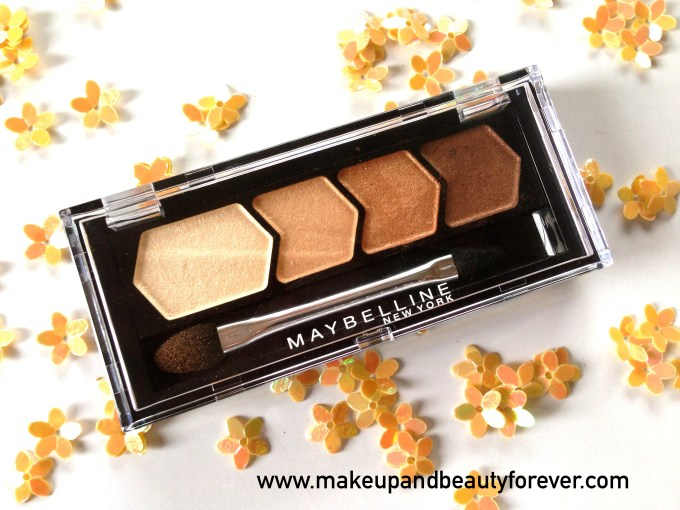 Maybelline Eyestudio Diamond Glow Quad 01 Copper Brown Review Swatches Price Details