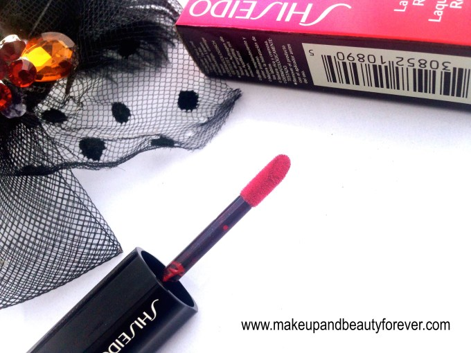 Shiseido Lacquer Rouge Liquid Lipstick Drama RD 501 Review Swatches Price FOTD 2