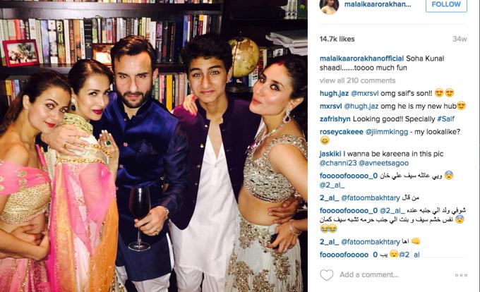 Amrita Arora Malika Arora Khan Ibrahim Khan Kareena Kapoor Soha Wedding reception
