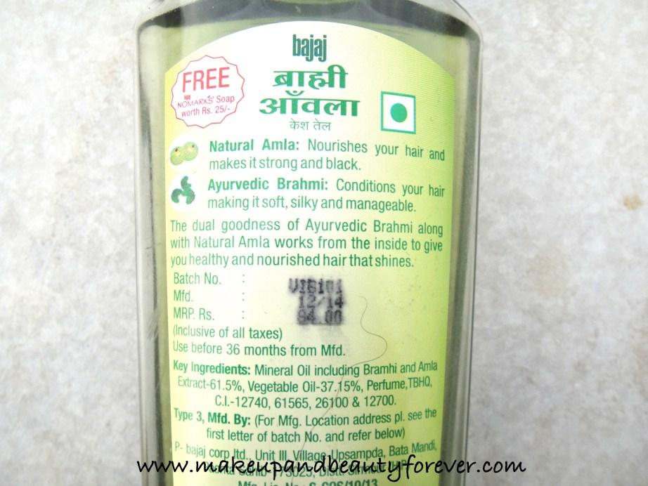Bajaj Brahmi Amla Hair Oil Review MBF India