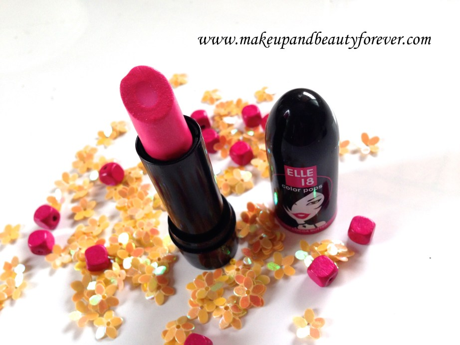 Elle 18 Color Pops Lipstick Wow Pink 51 Review Price Swatch