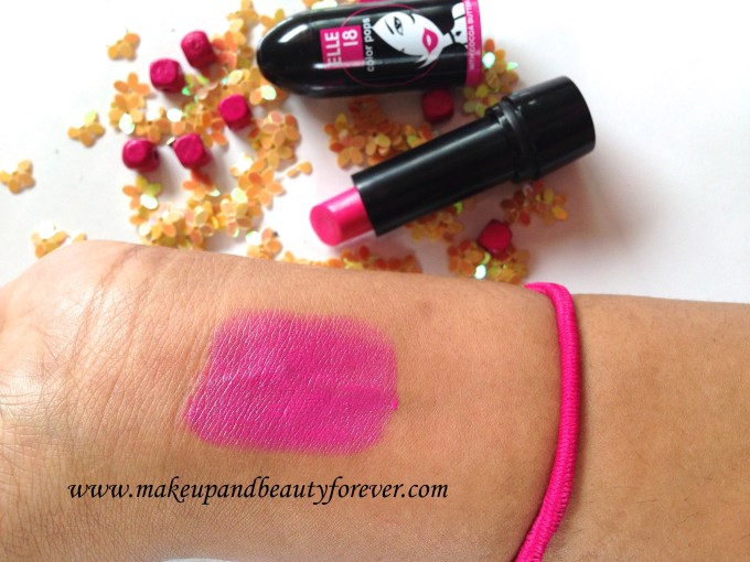 Elle 18 Color Pops Lipstick Wow Pink 51 Review Price Swatches