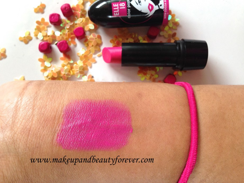 Elle 18 Color Pops Lipsticks Wow Pink 51 Review Price Swatches