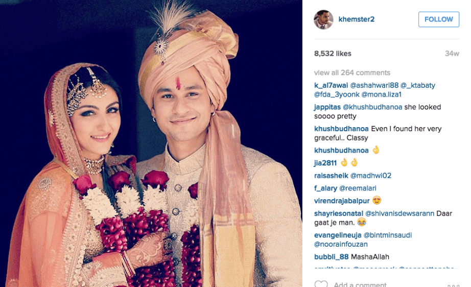 Kunal Kemmu instagram Soha Ali Khan Wedding