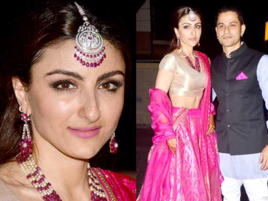 Soha Ali Khan Kunal Khemu Wedding Reception at Khar Mumbai Residence on 25 January 2015
