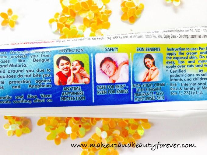 Dabur Odomos Naturals Mosquito Repellent Cream N N Diethyl Benzamide or DEET Dengue Malaria