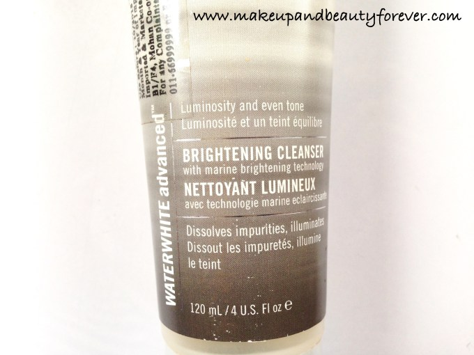 H2O Plus Waterwhite Advanced Brightening Cleanser Review 3
