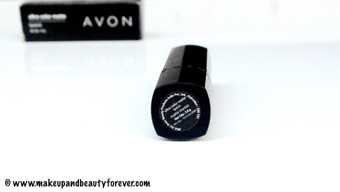 Avon Ultra Color Matte Lipstick Matte Merlot Review Swatches FOTD 3
