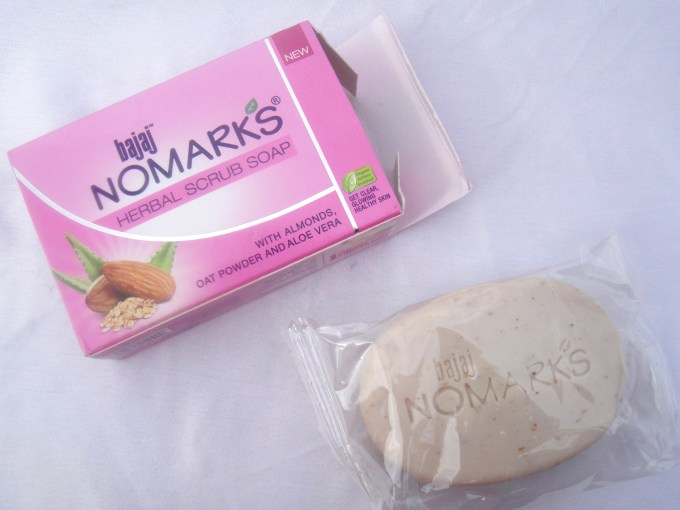 Bajaj NOMARKS Herbal Scrub Soap Review Indian Blogger