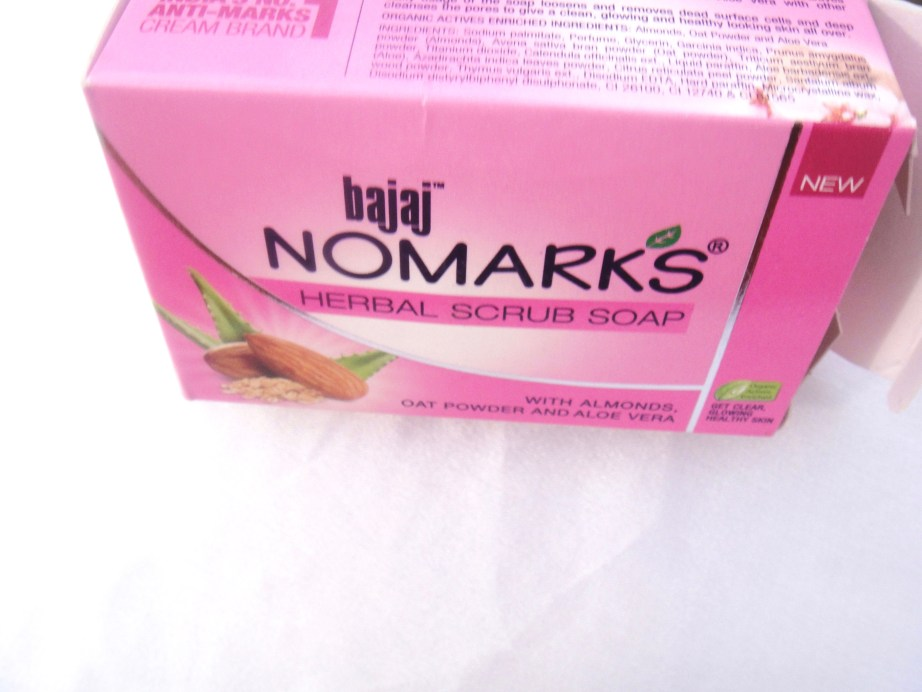 Bajaj NOMARKS Herbal Scrub Soap Review Indian Makeup Blog