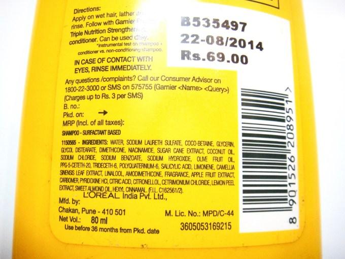Garnier Fructis Triple Nutrition Strengthening Shampoo Review 2