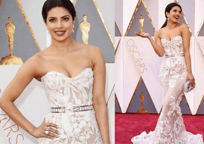 Priyanka Chopra Oscars 2016 Zuhair Murad strapless gown