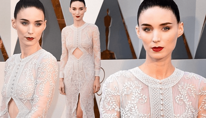 Rooney Mara Givenchy dress oscars 2016