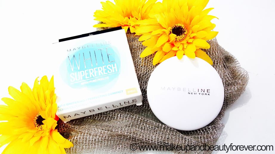 Maybelline White Superfresh 12HR Whitening Perfecting Compact Review Shades Coral Pearl Shell Swatches MBF
