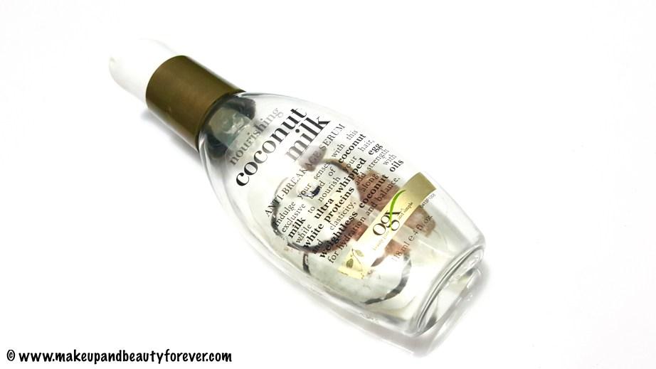 Organix Nourishing Coconut Milk Anti Breakage Serum Review India Makeup Blog