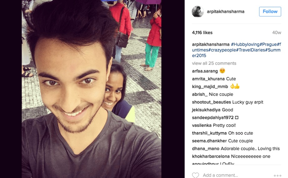 Arpita Khan Aayush Sharma having fun lovely couple