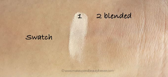 Lakme 9 to 5 Flawless Matte Complexion Compact Review Shades swatch half blended