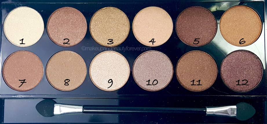 MUA Heaven and Earth Palette Review Swatches Urban decay Naked dupe