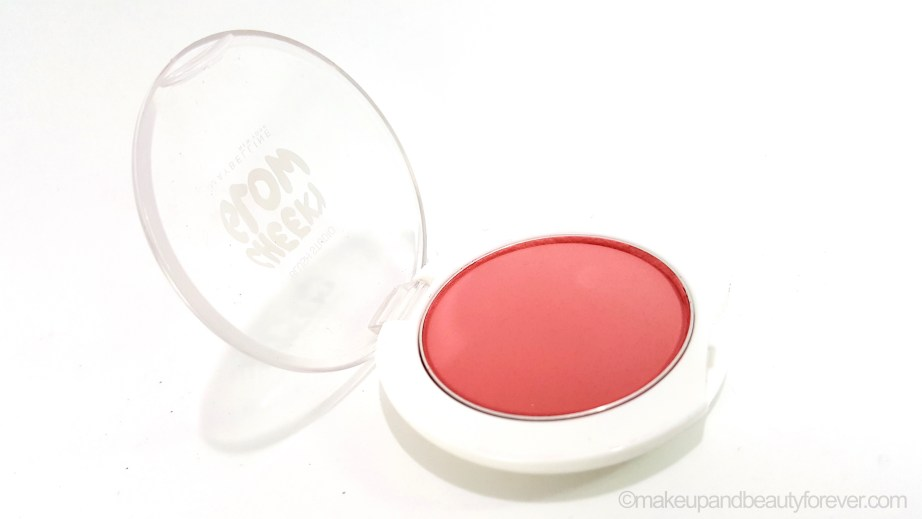Maybelline Cheeky Glow Blush Fresh Coral Review swatch