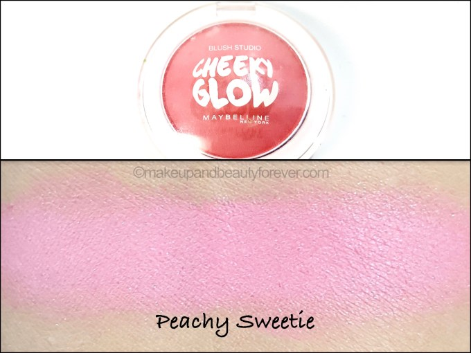 Maybelline Cheeky Glow Blush Peachy Sweetie Review swatch