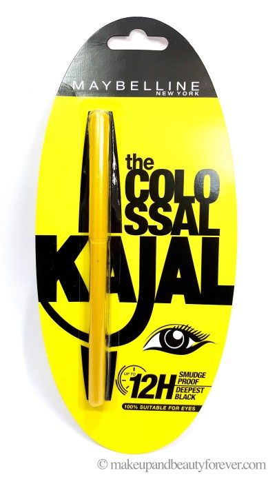 Maybelline the colossal Kajal 12 hour formula review