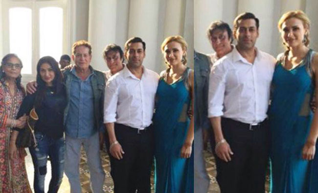 Salman Khan Iulia Vantur at Arpita Khan Wedding