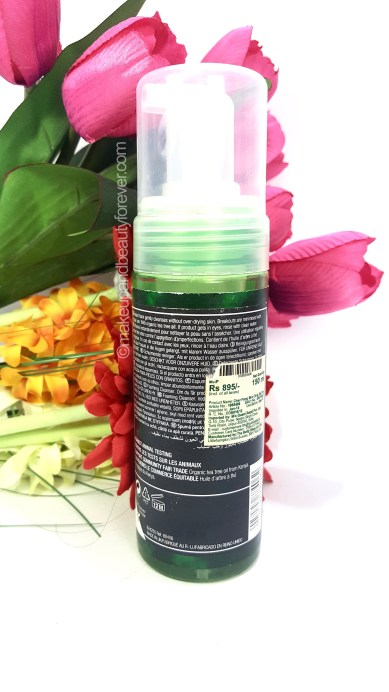 The Body Shop Tea Tree Skin Clearing Foaming Cleanser Review ingredients