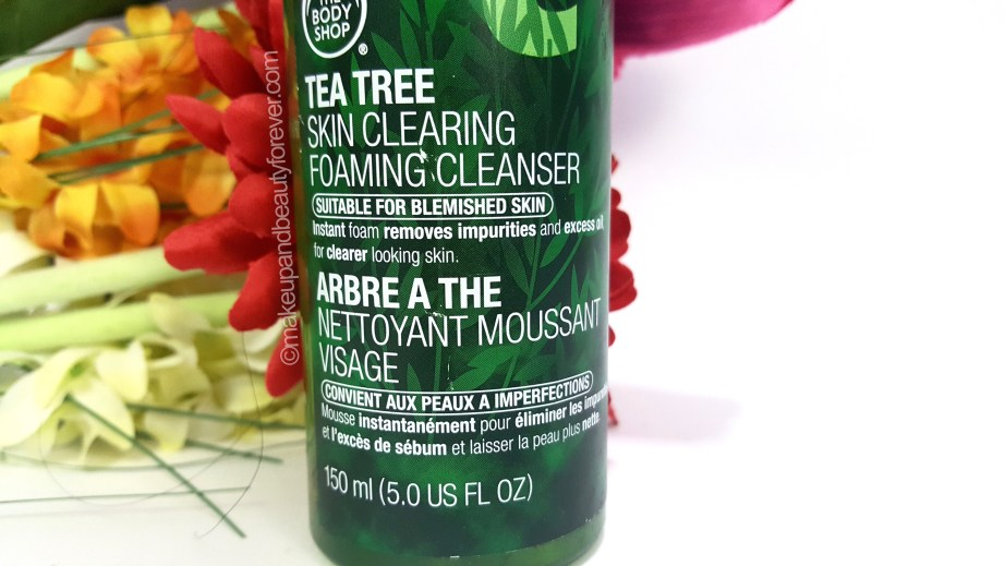 The Body Shop Tea Tree Skin Clearing Foaming Cleanser Review oily skin
