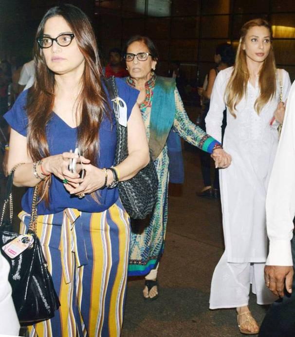 iulia vantur salma khan salman khan mumbai airport