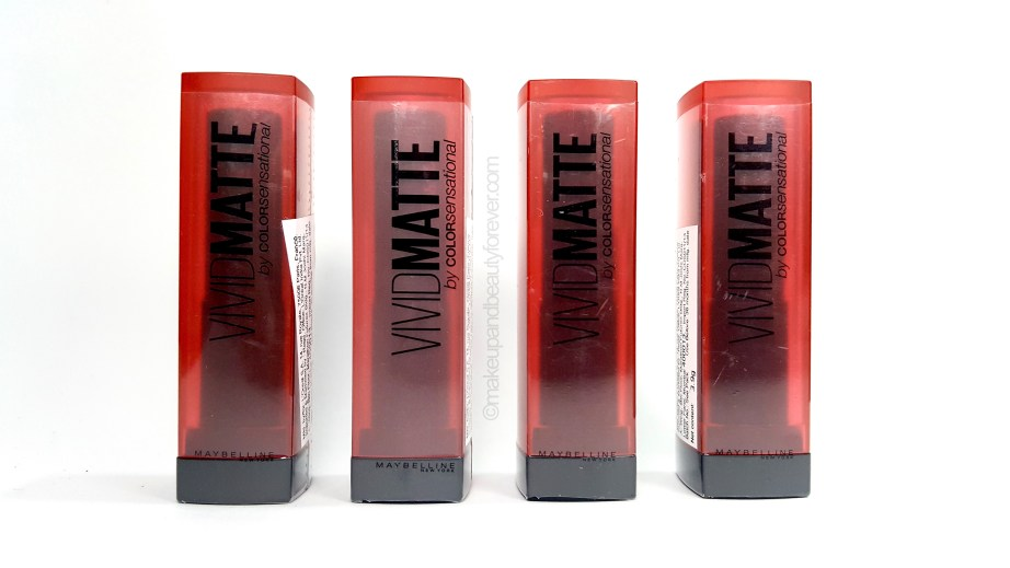 All Maybelline Vivid Matte Color Sensational Lipstick Review Shades Swatches Price Details