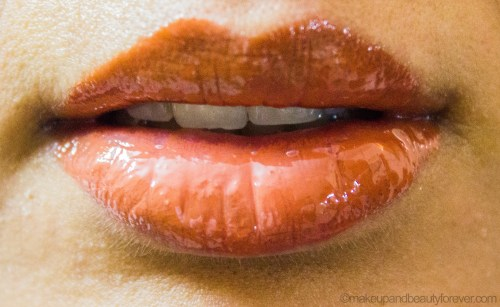 Colorbar Sheer Glass Lipgloss Brown Sheen Review LOTD light