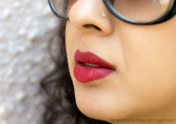 Colorbar Ultimate 8 Hour Stay Lipstick Burn it Down Review Lip Swatch