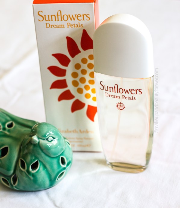 Elizabeth Arden Sunflower Dream Petals EDT Perfume Review makeup beauty blog