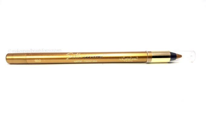 L'Oreal Infallible Silkissime Eyeliner Gold Review Swatches blog