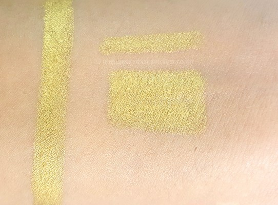 L'Oreal Infallible Silkissime Eyeliner metallic Gold Review Swatches