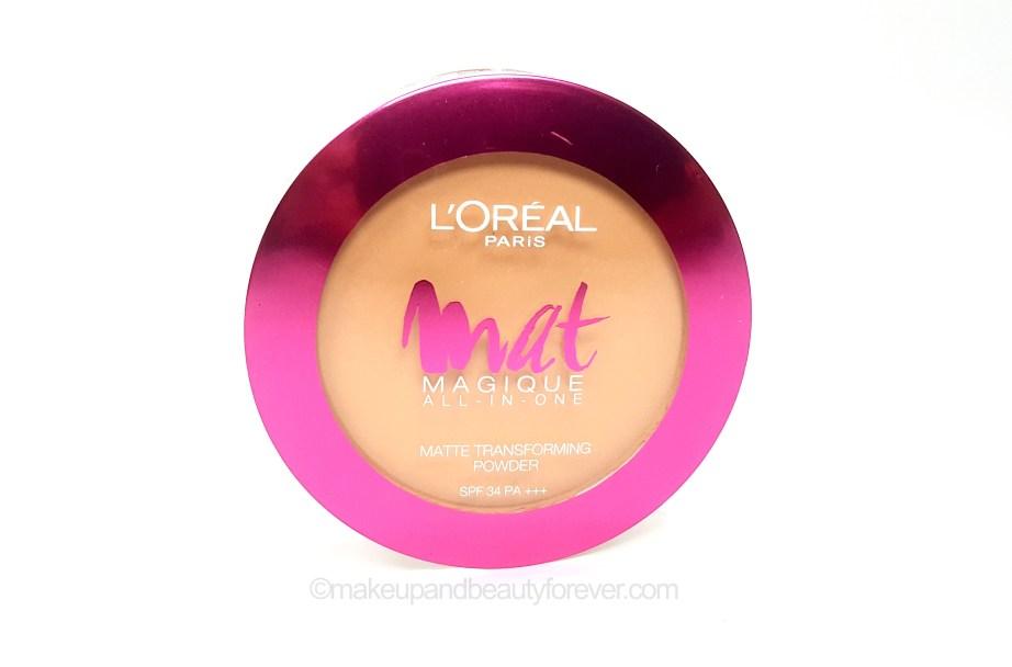 L'Oreal Mat Magique transforming Compact Powder Shades Review